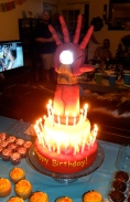 Iron Man birthday cake