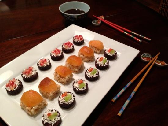 dessert sushi