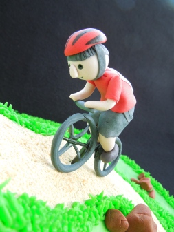 fondant biker from front