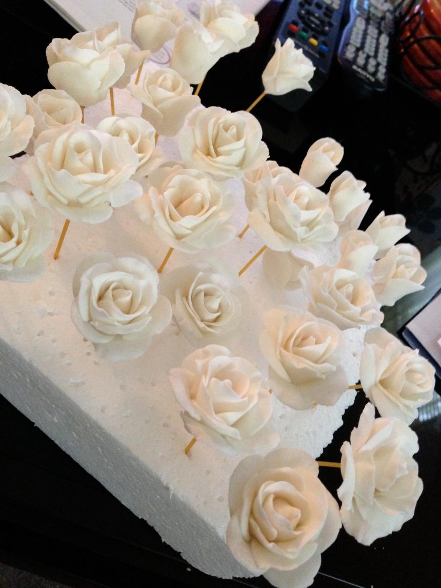 gum paste roses medium