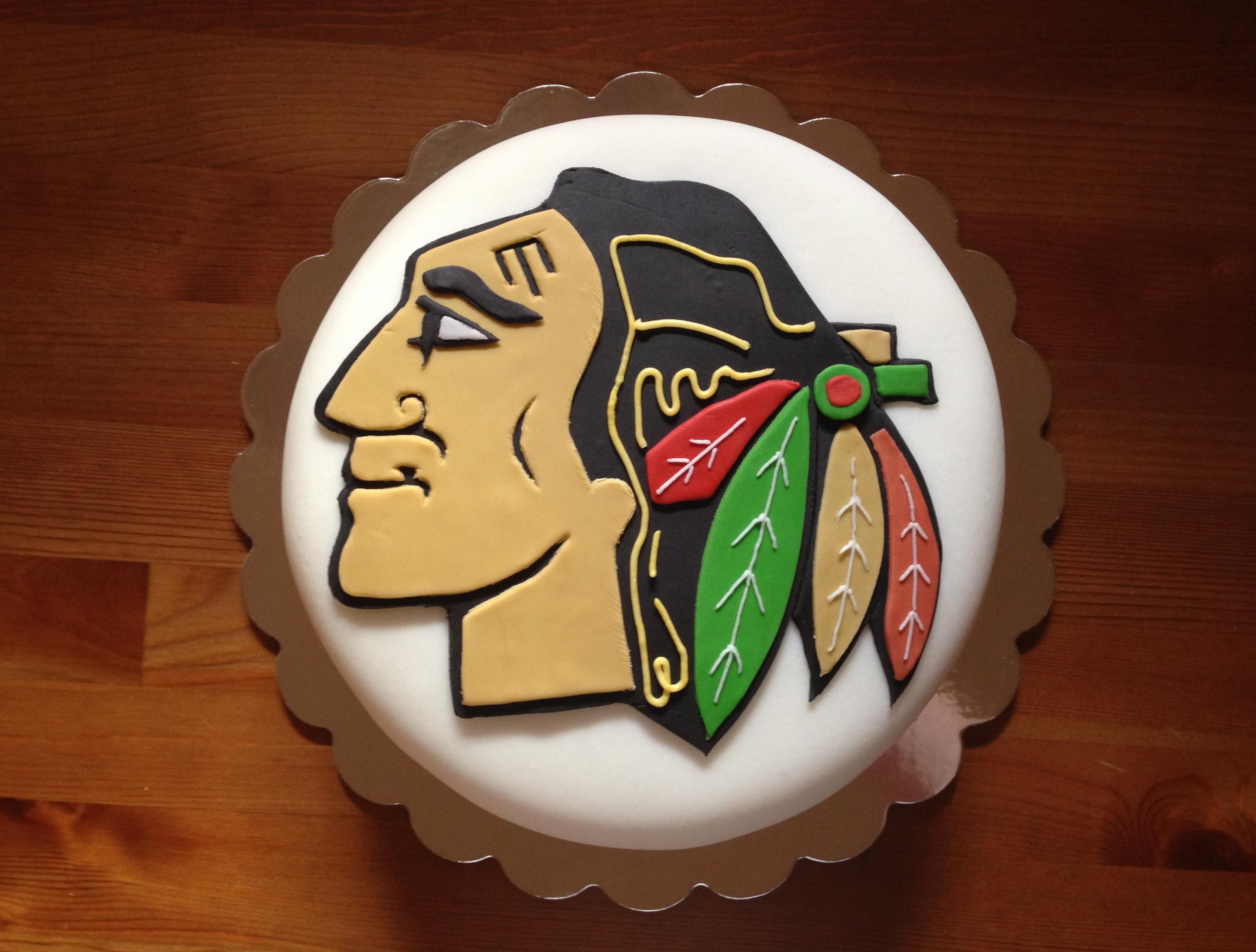 Chicago Blackhawks cake Meloda