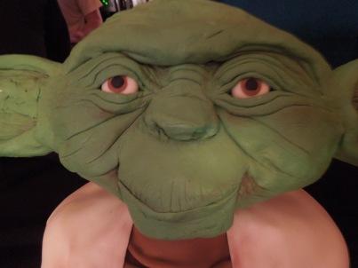 Yoda cake face