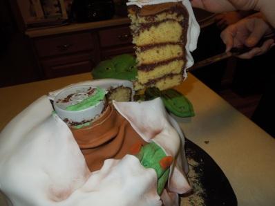 Yoda cake inside