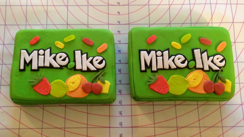 Mike and Ike fondant boxes
