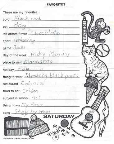 Kathryn Favorite Things
