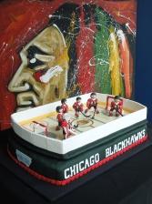 blackhawks cake