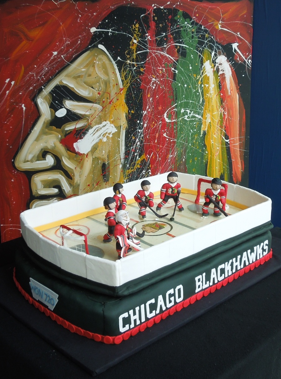 Cake Decorating Store Nj : Here Come the Hawks: How to Create A Chicago Blackhawks ...