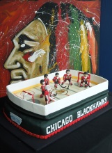 Chicago Blackhawks cake