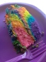 Yum! Duff cake mix- rainbow tie-tye