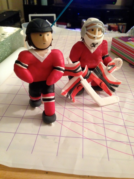 modeling chocolate fondant hockey players