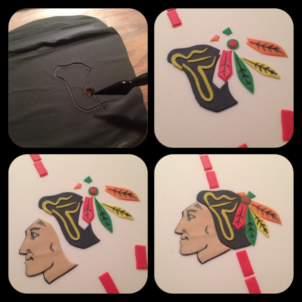 piecing the blackhawks logo