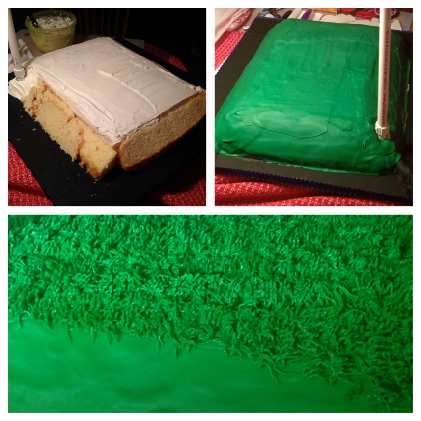 skydiving cake in stages