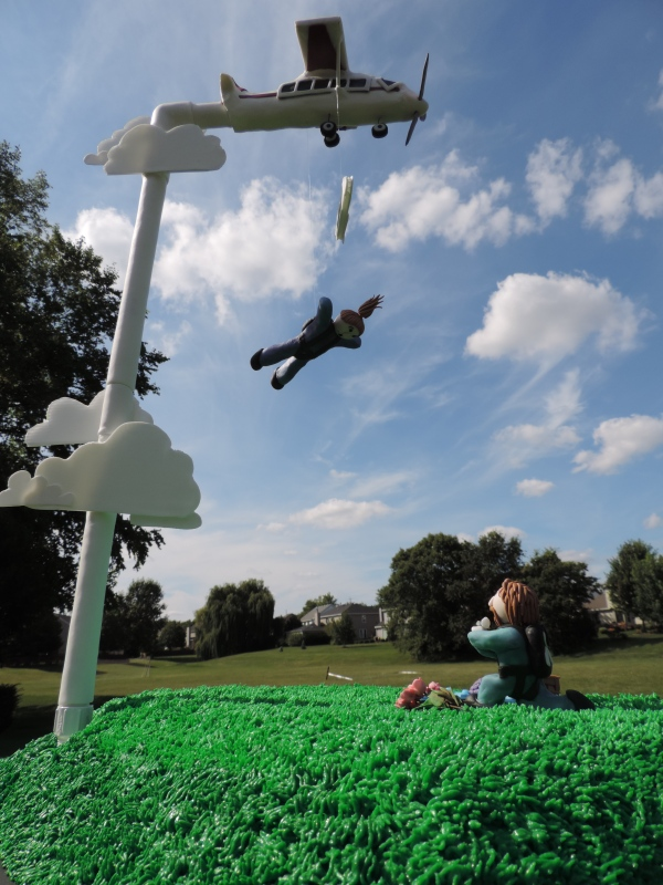 skydiving cake plane