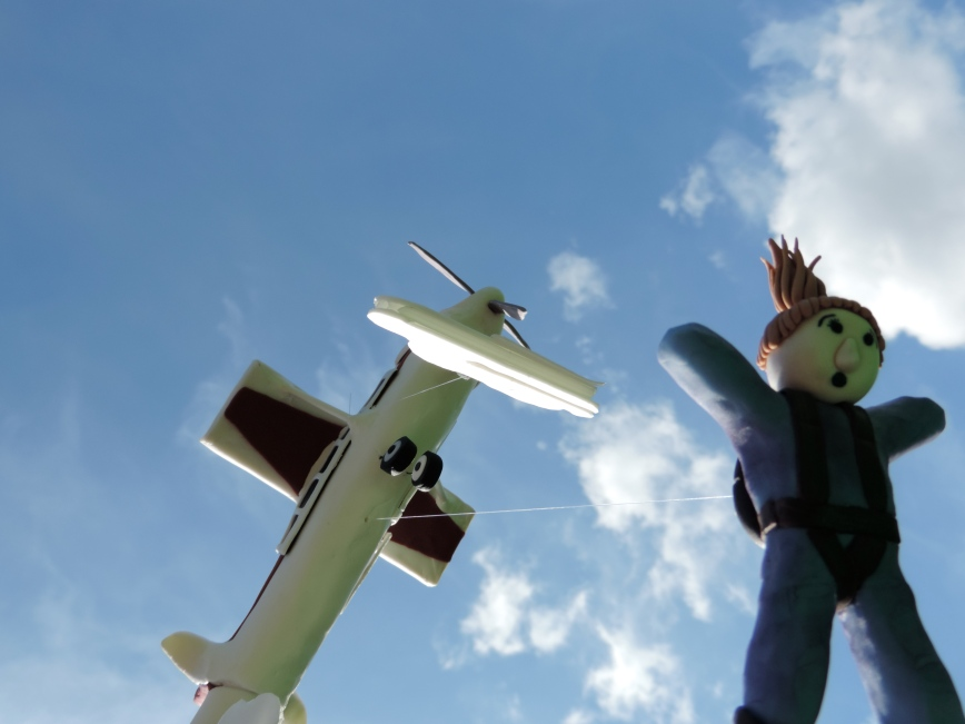 skydiving plane cake