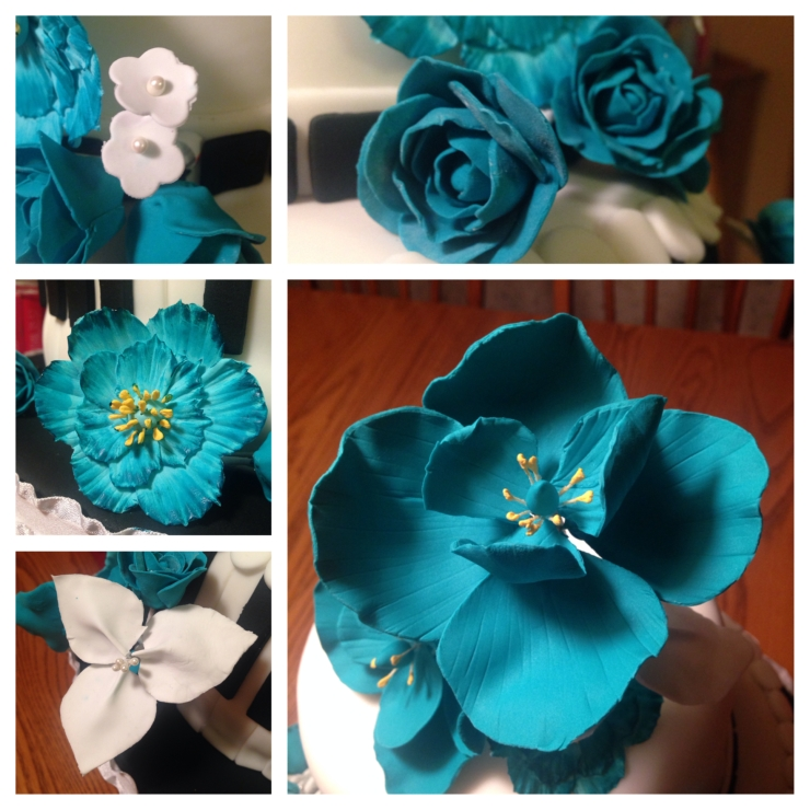 various gum paste flowers