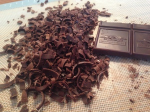 chocolate shavings for cake