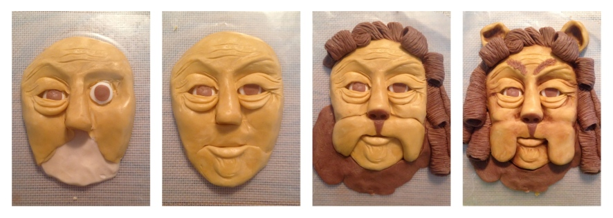 modeling chocolate face of lion wizard of oz