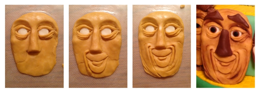 modeling chocolate face of scarecrow wizard of oz