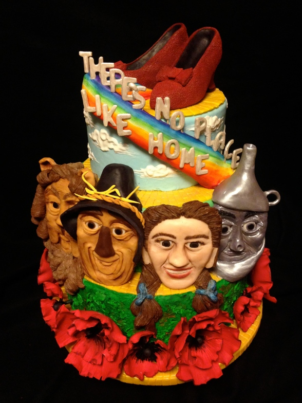 wizard of oz cake dorothy scarecrow lion tin man