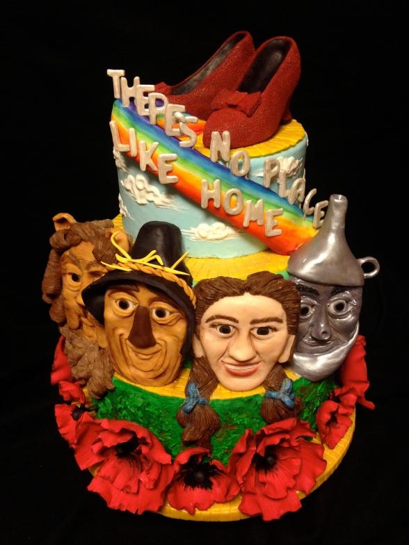 wizard of oz cake dorothy scarecrow lion tin man