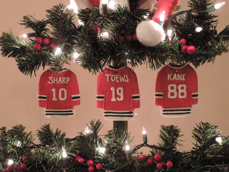 blackhawks hockey jersey cookies christmas tree 1