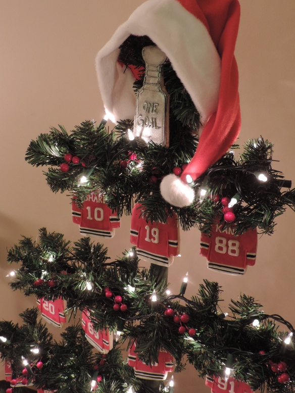 blackhawks hockey jersey cookies christmas tree