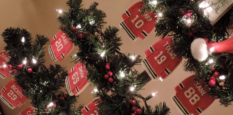 a christmas cookie tree - Blackhawks Christmas