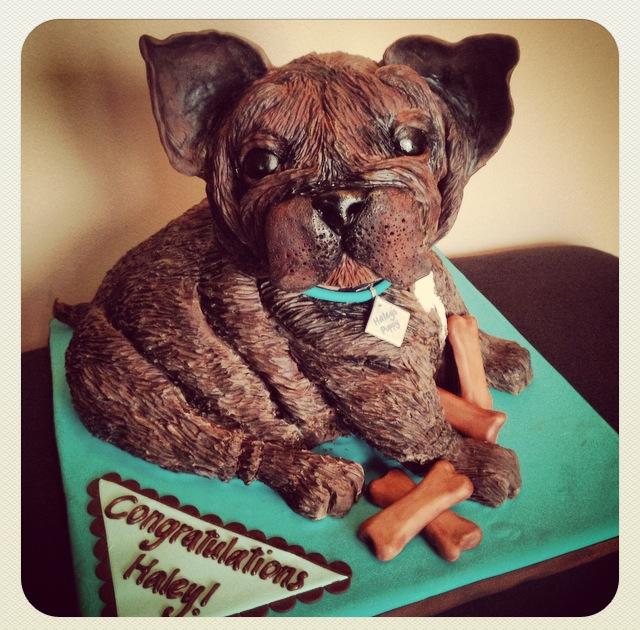 french bulldog dog puppy cake modeling chocolate