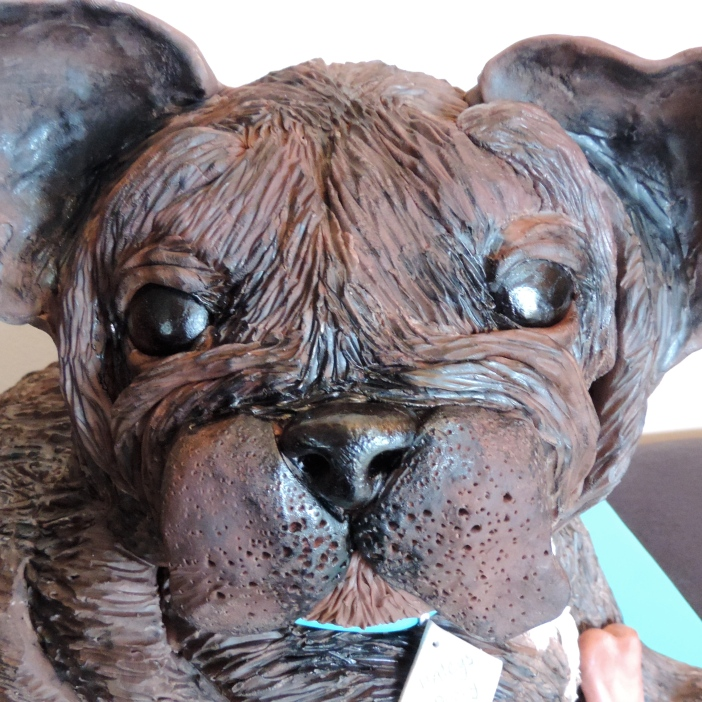 french bulldog puppy cake close up of face
