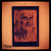 Leonardo Da Vinci, redone with food coloring on fondant