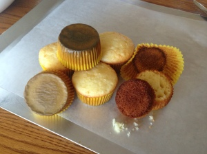burned cupcakes for cake pops