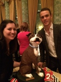 Dog cake with Captain Toews!