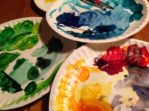 food coloring paintbrushes for painting cake