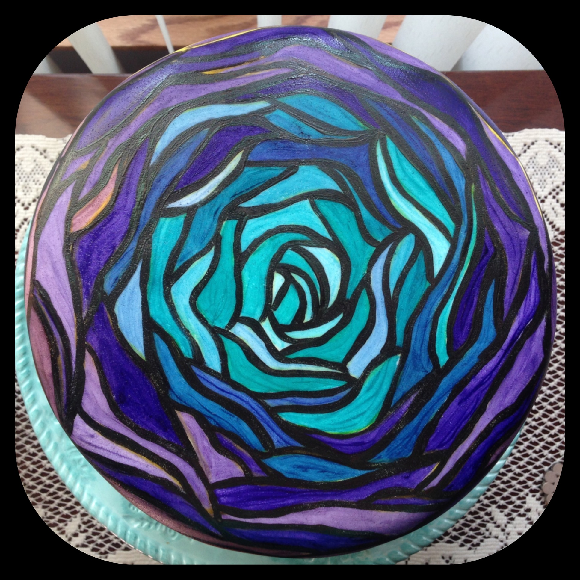 Stained Glass Cake With Food Coloring Easter Painted