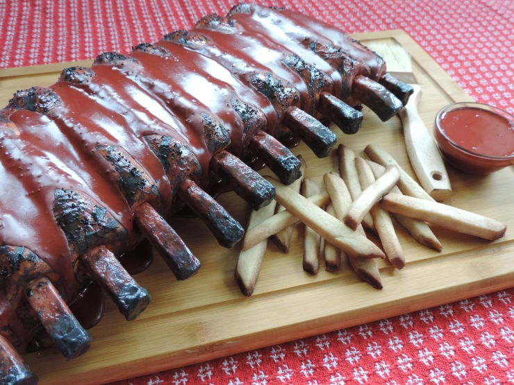 bbq ribs cake fondant icing cookie french fries