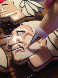 chicago blackhawks hockey cookies icing