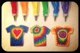 tie dye shirt cookies royal icing bags