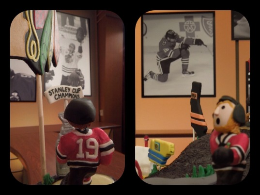 mini gum paste hockey players