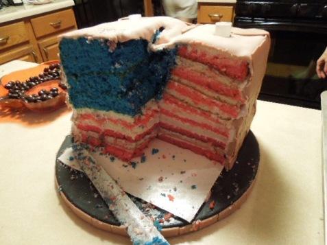 inside of statue of liberty cake flag cake
