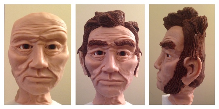 Abe abraham lincoln cake modeling chocolate step by step