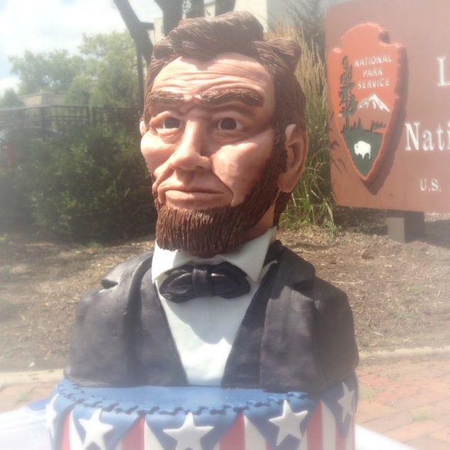 abe abraham lincoln face made of modeling chocolate