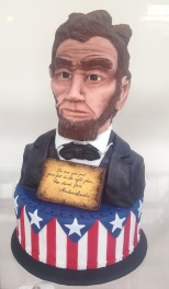abraham abe lincoln cake entered in illinois state fair 2015 made of modeling chocolate