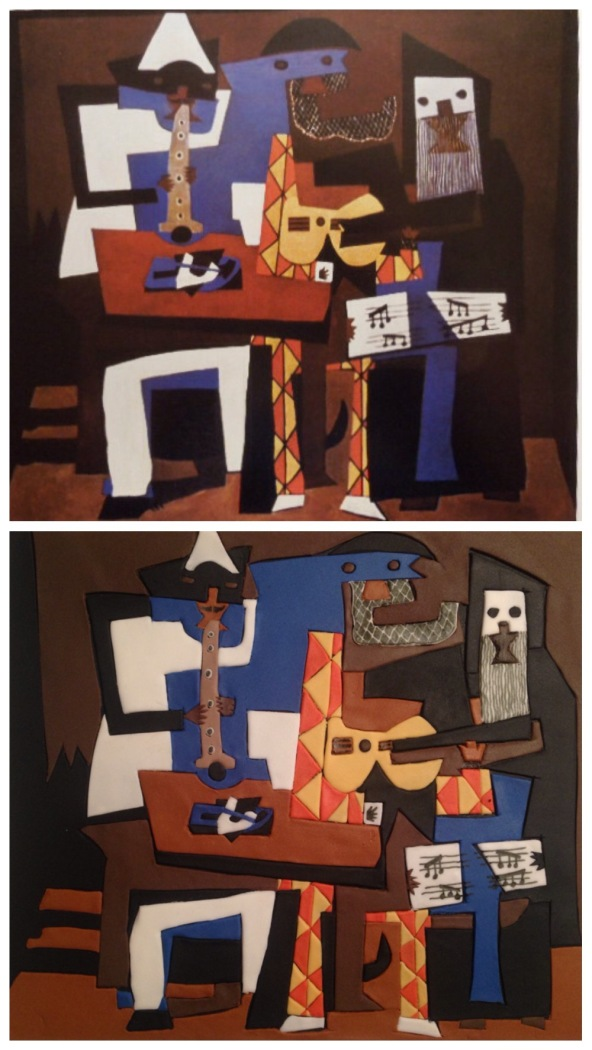 Picasso three musicians painting made with fondant cake