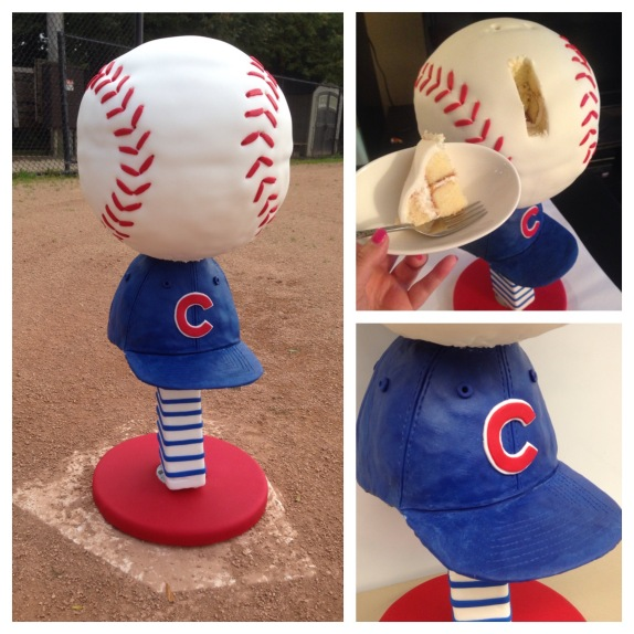 Chicago Cubs baseball cake