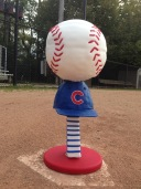 Chicago Cubs baseball hat cake fondant chocolate