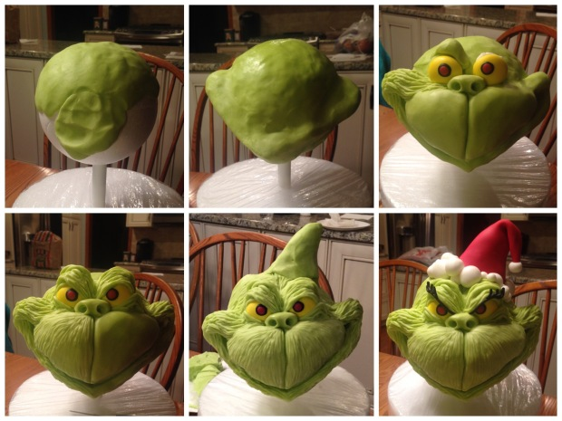 how to make a grinch cake modeling chocolate