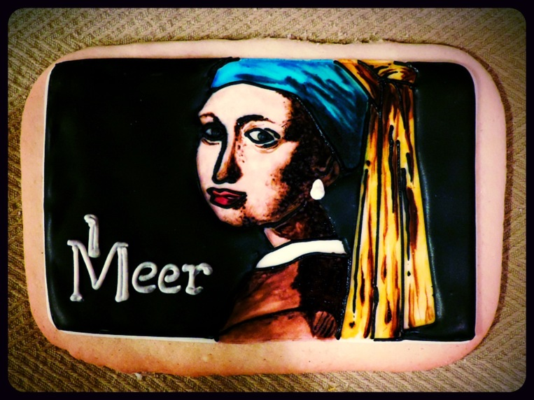 cookie painting vermeer pearl earring