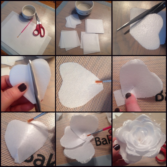 how to make wafer paper rose tutorial