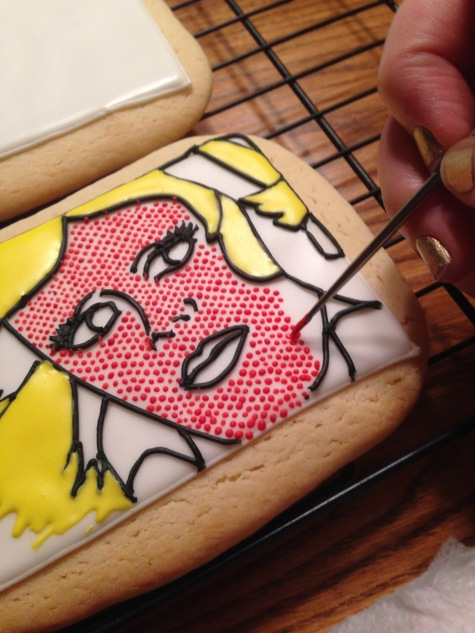 how to paint cookies lichtenstein