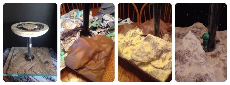 making the base of ufo cake